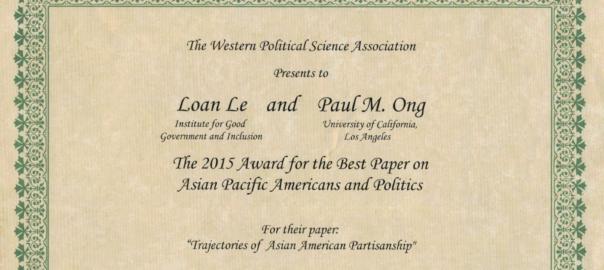 WPSA 2015 Award